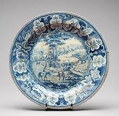 Plate with Italian View