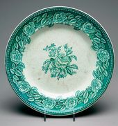 Plate. Kiev-Mezhegorsky faience factory, Kiev, Russia. 1830s-1840s