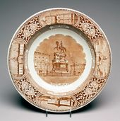 "Plate ""Statue of Nicholas I in St. Petersburg"""