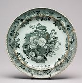 Plate with Bouquet Design