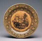 Plate. Shirobokov, Dipedri and Borisov factory, Gorodische Village, Vyshnevolotsky Uyezd, Tver Province, Russia. 1844-1854