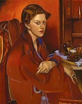 Froanna (Portrait of the Artist's Wife). 1937. Copyright: The Estate of Mrs G A Wyndham Lewis. The Wyndham Lewis Memorial Trust