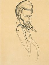 Ezra Pound. 1920. Copyright: The Estate of Mrs G A Wyndham Lewis. The Wyndham Lewis Memorial Trust