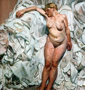Standing by the Rags. 1988–1989. © Lucian Freud