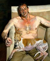 Eli and David. 2005–2006. © Lucian Freud]