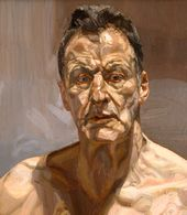 Reflection (Self-portrait). 1985. © Lucian Freud
