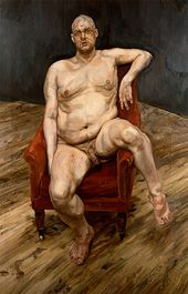 Leigh Bowery (Seated). 1990. © Lucian Freud