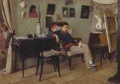 ALEXEI KORIN. The Sick Artist. 1892