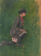 ALEXEI KORIN. A Boy. Study for the painting 'The Sick Artist'. 1890