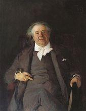ALEXEI KORIN. Portrait of Nikolai Medyntsev. 1891
