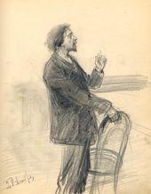 ALEXEI KORIN. Ilya Repin. 1901