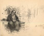ALEXEI KORIN. On the Boulevard. 1897
