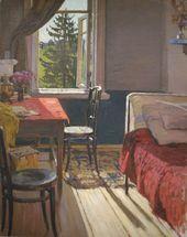 А.М. КОРИН. Комната художника в имении Марьино. Начало 1900-х