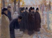 ALEXEI KORIN. Requiem for Illarion Pryanishnikov. 1900