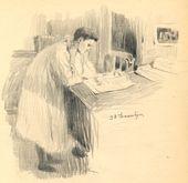 ALEXEI KORIN. Reading. 1901