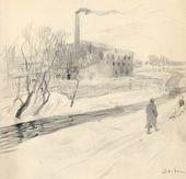 ALEXEI KORIN. City Landscape. 1901