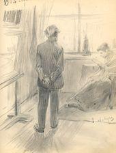 ALEXEI KORIN. In the Studio. 1902