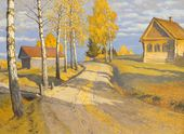 Autumn Landscape with a Small House
