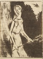 "NIKOLAI CHERNYSHEV. Muse. 1921. From the ""Makovets"" magazine (No. 1, 1922)"