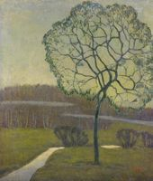 NIKOLAI CHERNYSHEV. Twilight (A Tree). 1911