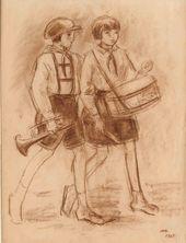 NIKOLAI CHERNYSHEV. Young Pioneers. 1928