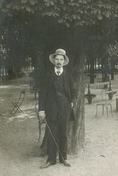 Nikolai Chernyshev in Paris. 1910. Photograph. Archive of Nikolai Chernyshev's family