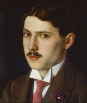 NIKOLAI CHERNYSHEV. Portrait of the Artist's Brother Mikhail (Mikhail Chernyshev). 1915