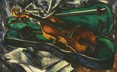 NIKOLAI CHERNYSHEV. A Violin in a Case. 1919