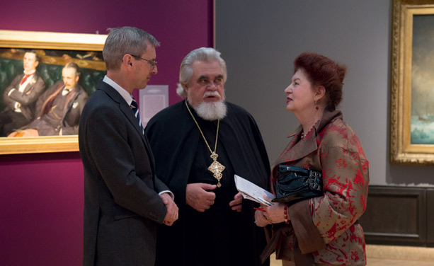 Ambassador Laurie Bristow, Archpriest Nikolai Sokolov, Natella Voiskounski, Director of the GRANY Foundation