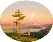IVAN AIVAZOVSKY. View of Moscow from the Sparrow Hills. 1848