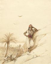 IVAN AIVAZOVSKY. A Young Negro in Stambuli, Rhodes. 1845