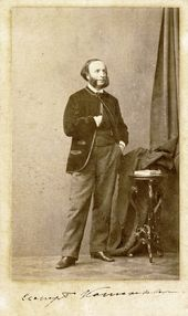 Ivan Aivazovsky. Photograph for Henry (Andrei) Denier's 'Album of Photographic Portraits of August Persons and Famous Russian Individuals'. St. Petersburg. 1864–1865