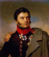 GEORGE DAWE. Portrait of Cavalry General Nikolai Rayevsky. No later than 1828