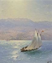 IVAN AIVAZOVSKY. Crimea. A Sea View of Alupka. 1890