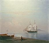 И.К. АЙВАЗОВСКИЙ. Парусник у Капри. 1865