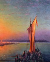 IVAN AIVAZOVSKY. Varangians on the Dnieper. 1876