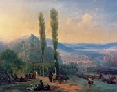 IVAN AIVAZOVSKY. View of Tiflis. 1869<