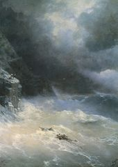 IVAN AIVAZOVSKY. Storm at Cape Aya. 1899