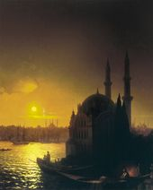 IVAN AIVAZOVSKY. View of Constantinople by Moonlight. 1846
