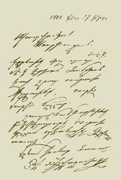 Fascimile copy of a letter written by Aivazovsky in Armenian. 1900