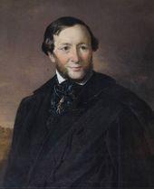 VASILY TROPININ. Portrait of Ivan Aivazovsky. 1853