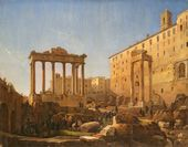 GRIGORY CHERNETSOV. The Russian Artists at the Roman Forum. 1842