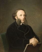 DMITRY BOLOTOV. Portrait of the Artist Ivan Aivazovsky (with a folder). 1876