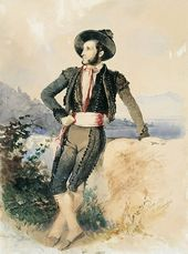 VASILY STERNBERG. Aivazovsky in Toreador Costume. 1843