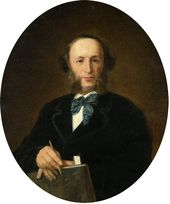 IVAN KRAMSKOI. Portrait of the Artist Ivan Aivazovsky. 1880s