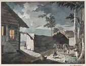 IVAN AIVAZOVSKY. Peasant Yard. Mid-1830s