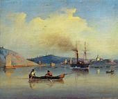 LEV LAGORIO. Staraya Ladoga. St. Nicholas Monastery and St. George Fortress. 1843