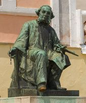 Monument to Ivan Aivazovsky. Sculptor, Ilya Ginzburg: created in the 1910s, installed in 1930
