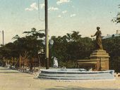 "Monument-fountain ""To the Kind Genius"", Feodosia. Scenic postcard. 1910s"