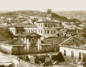 Feodosia. View of Mount Mithridat and the Museum of Antiquities. Photograph. Early 20th century
